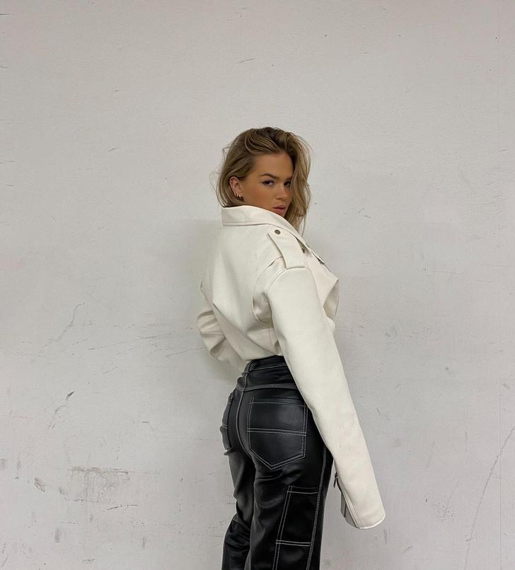 Фото №3 - Как создать очень модный образ с кожаными брюками? Показывает инфлюенсер Ханна Шонберг