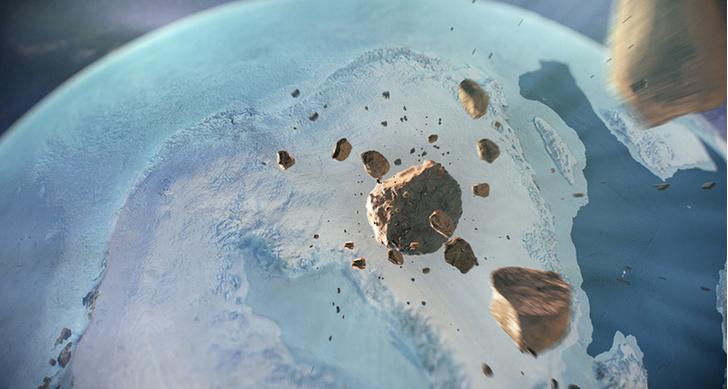 Фото №1 - Подо льдами Гренландии обнаружен гигантский метеоритный кратер