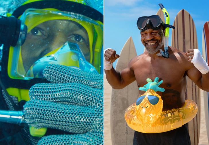 Фото №1 - Майк Тайсон голыми руками поймал и обездвижил акулу (видео)