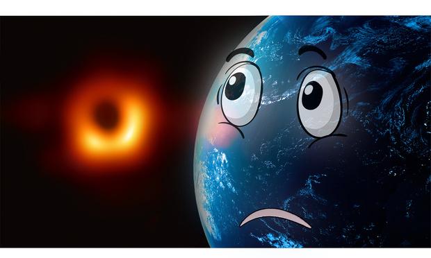 Фото №1 - До какого размера надо сжать Землю, чтобы она превратилась в черную дыру? (Видео)