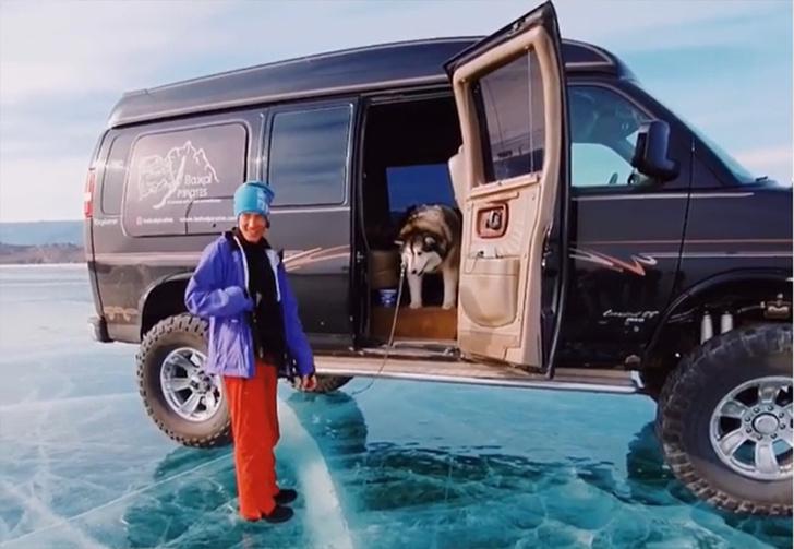 Фото №1 - Обаятельный маламут из России отказался выходить на лед Байкала и прославился на весь мир (видео)