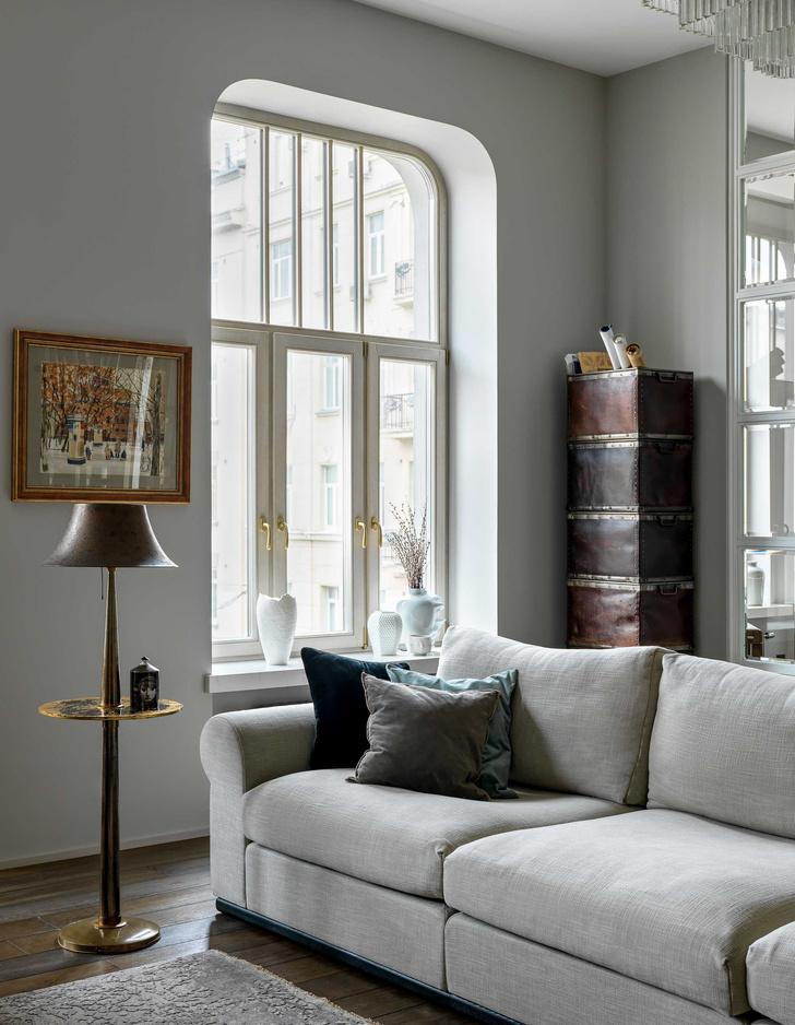 Фото №8 - Винтаж и современность: элегантная квартира на Патриарших прудах 300 м²