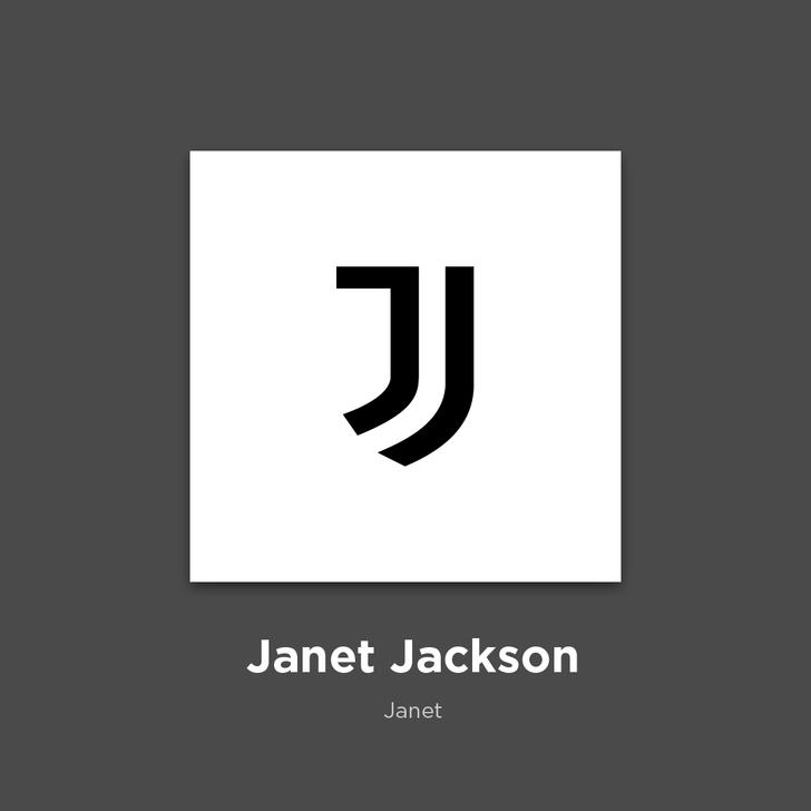 Фото №22 - 27 альбомов поп- и рок-звезд в виде известных логотипов