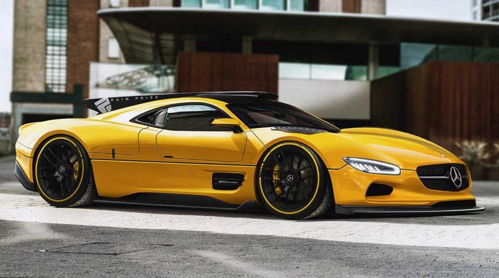 Олдскульный шедевр на новый лад. Так мог бы выглядеть эпичный спорткар Mercedes-Benz CLK GTR, если бы его разработка началась не в конце 90-х, а, скажем, в прошлом году.