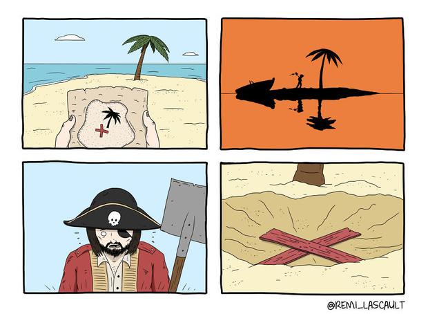 Фото №2 - 19 комиксов для ценителей черного юмора от французского художника