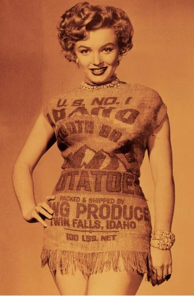 Фото №1 - Крошка-картошка: история самого странного наряда Мэрилин Монро