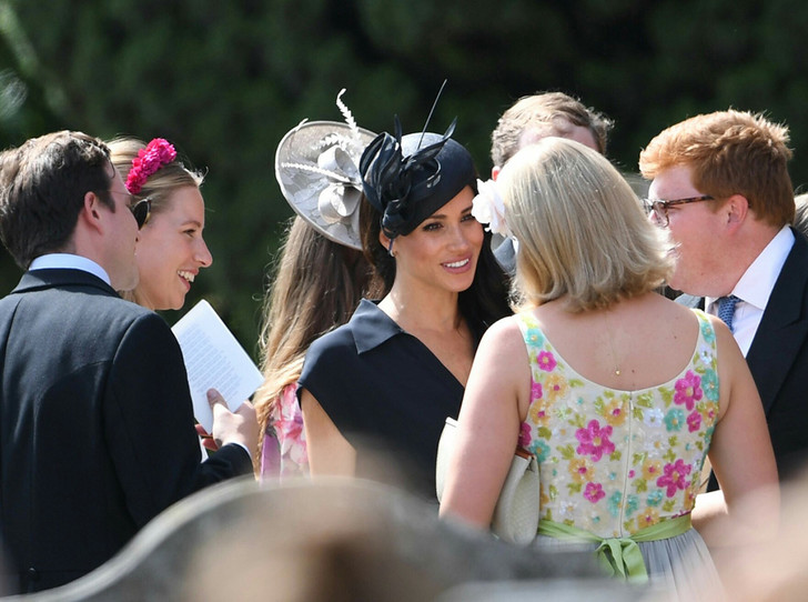 Фото №15 - Меган Маркл и принц Гарри на свадьбе друзей