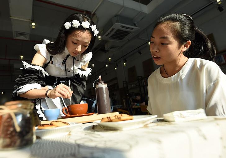 Фото №1 - Мейд-кафе, многоэтажные караоке и другие странные развлечения Японии