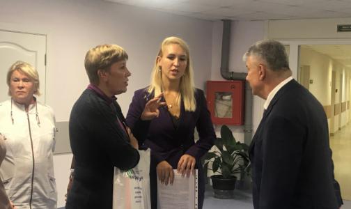 Фото №1 - Как в петербургском онкодиспансере встречали профсоюзного лидера, прилетевшего из Москвы бороться за зарплаты санитарок