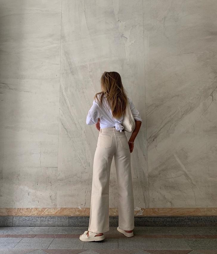 Фото №3 - Сочетайте в одном образе разные оттенки белого, как это делает инфлюенсер Ханна Шонберг