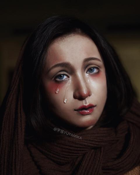 Фото №1 - WOW: китайская визажистка перевоплощается в знаменитые картины с помощью макияжа