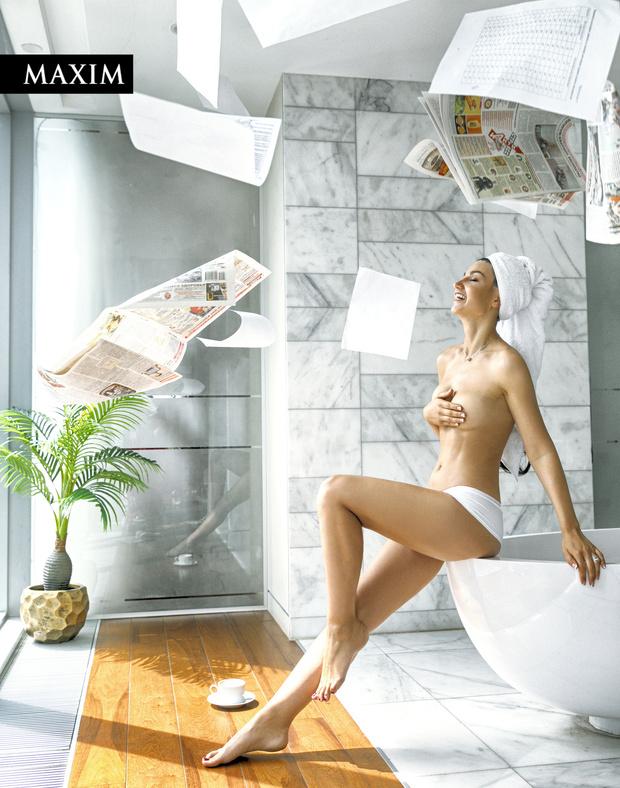 Фото №1 - Бизнесменская зорька: фотосессия в MAXIM телеведущей Вероники Романовой!