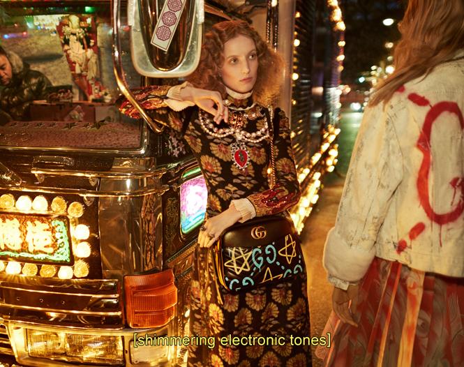 Фото №16 - Японское приключение Петры Коллинс и Ко: новая кампания Gucci