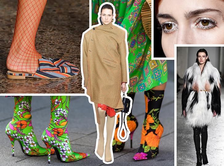 Фото №1 - Стразы, ботфорты и колготки в сеточку: как в моду входит все то, что раньше считалось безвкусицей
