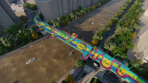 Фото №3 - Проект пешеходного моста в Шанхае