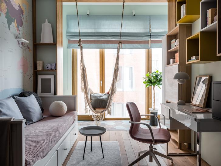 Фото №12 - Московская квартира с панорамными окнами и антресолью