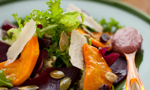 Теплый салат из свеклы и тыквы