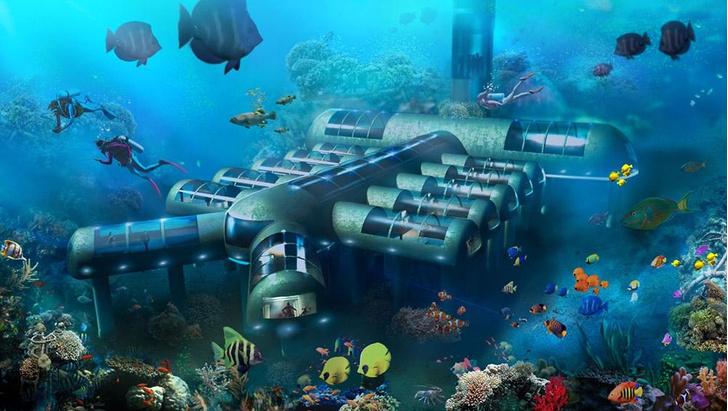 Фото №1 - Первый в мире отель-подводная лодка строится в США
