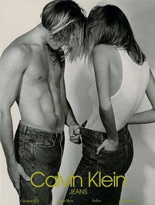Рекламная кампания Calvin Klen Jeans в стиле унисекс