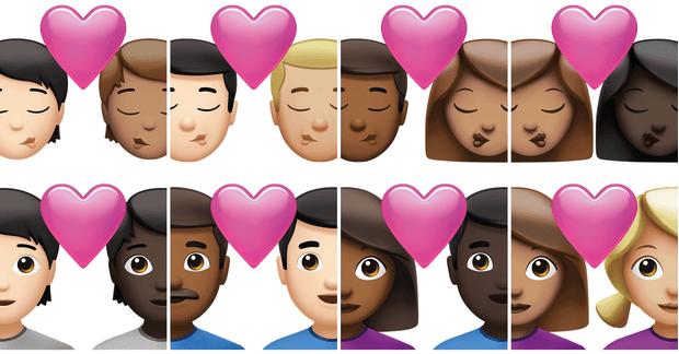 Фото №1 - Любовь без границ: Apple представила новые эмодзи с межрасовыми и ЛГБТ-парами 💕
