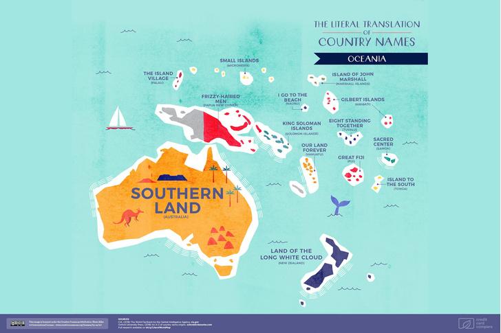 Фото №6 - Опубликована карта мира с буквальным переводом названий стран
