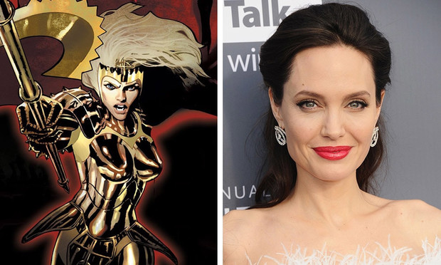 Фото №1 - Папарацци удалось заснять Анджелину Джоли в костюме Тены на съемках «Вечных»