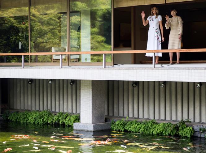 Фото №5 - Дональд и Мелания Трамп прилетели в Японию