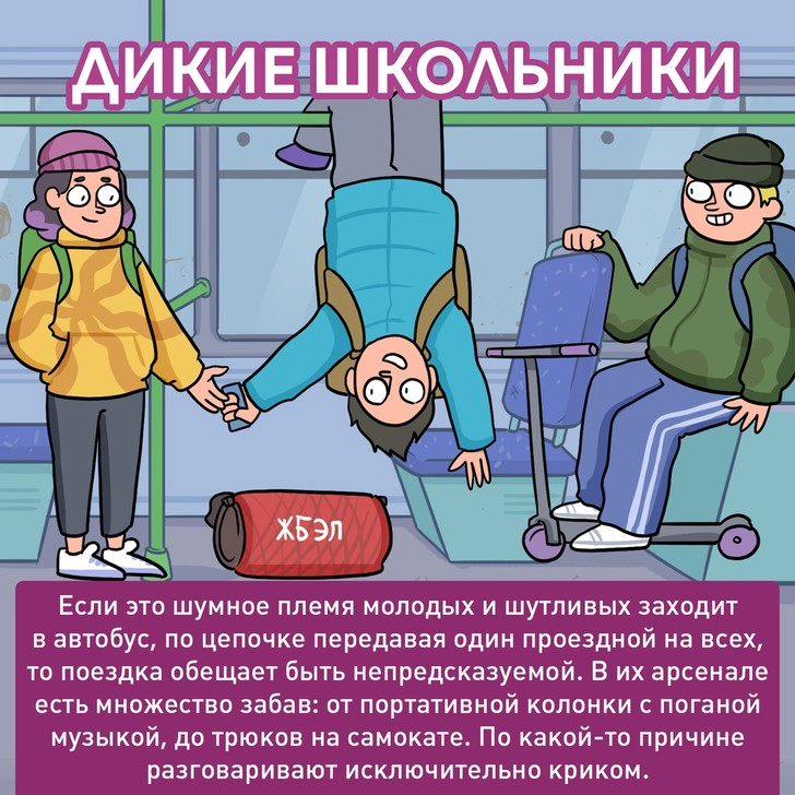Фото №7 - Типичные пассажиры автобуса глазами российского иллюстратора