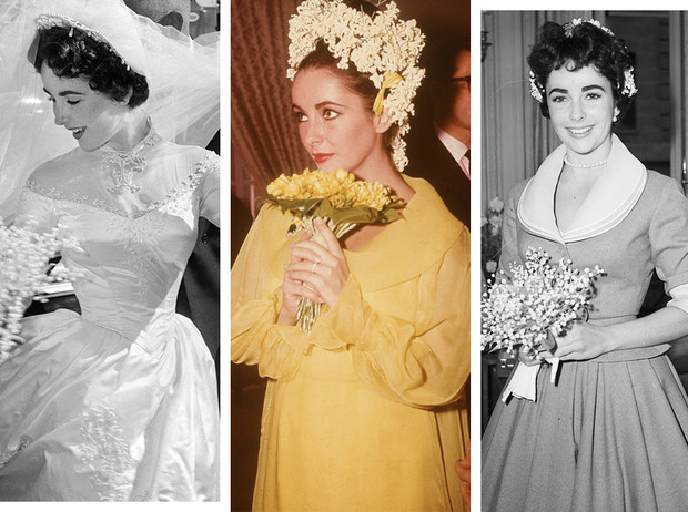 Фото №1 - Привычка жениться: 8 свадебных платьев и 7 мужей Элизабет Тейлор