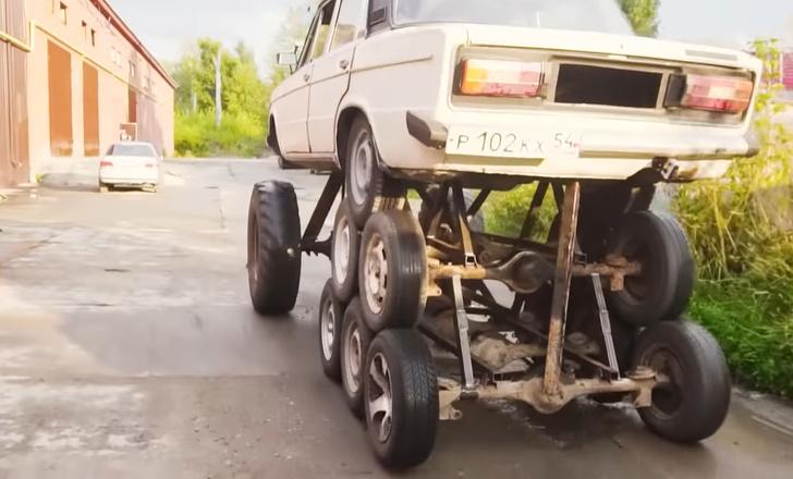 Фото №1 - Лепить по-русски: наши мастера поставили «Жигулям» 14 колес (видео)
