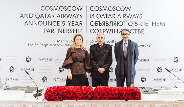Фото №1 - Cosmoscow и Qatar Airways объявили о 5-летнем сотрудничестве