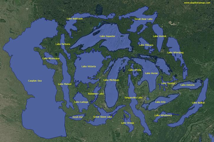 Фото №2 - Инфографика: 25 крупнейших озер