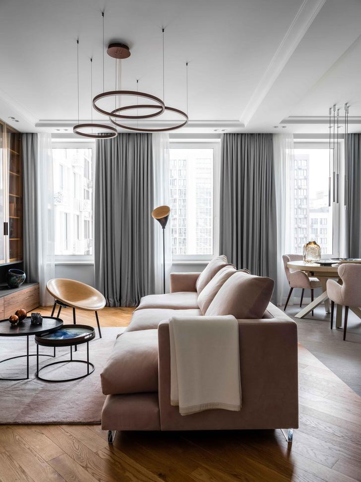 Фото №4 - Московская квартира 100 м² в пастельных тонах