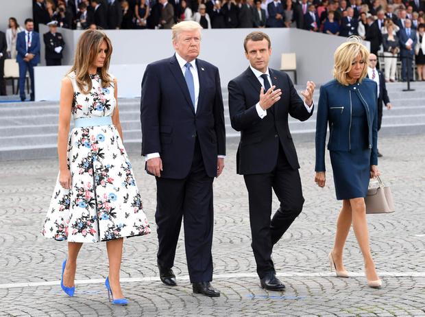 Фото №15 - Первые подруги: Мелания Трамп и Бриджит Макрон в Париже