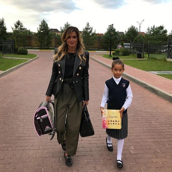 Где учится дочь Ксении Бородиной