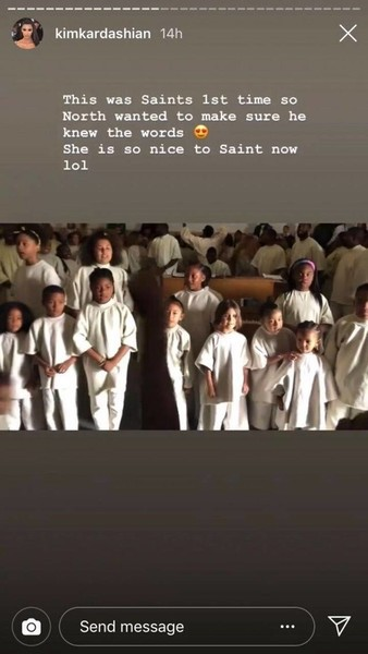 Фото №1 - Сейнт Уэст впервые спел с папой в церковном хоре