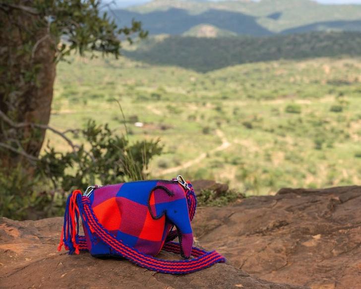 Фото №2 - Воды слонам! Бехати Принслоу показала, как выглядит самая милая сумка Loewe со смыслом