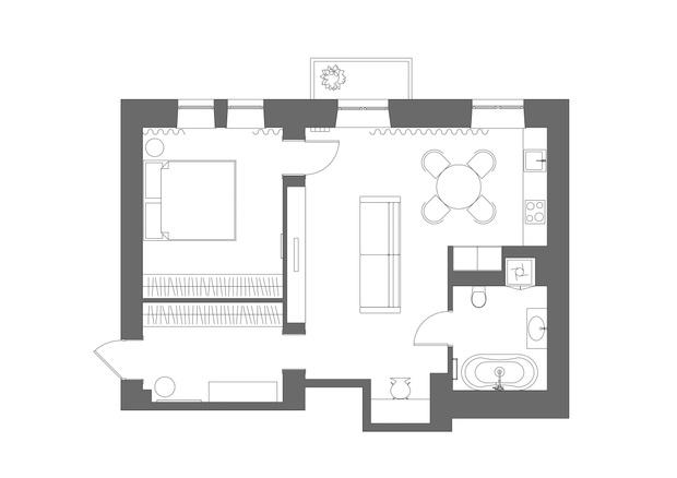 Фото №10 - Квартира с камином в нейтральных оттенках 66 м²