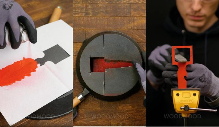 Фото №1 - Как сделать тайный нож из сковородки (остросюжетное видео)