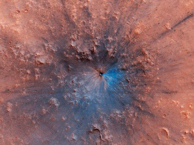 Фото №1 - На Марс упал метеорит
