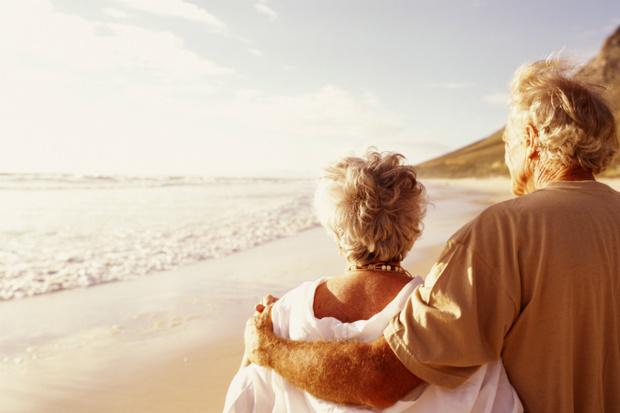 Семейная пара в старости