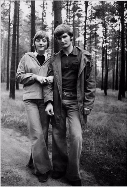 Ангела Меркель с первым супругом
