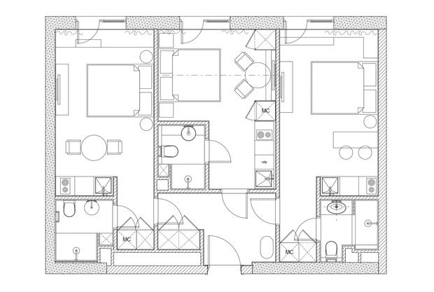 Фото №16 - Апартаменты в аренду вместо трехкомнатной квартиры