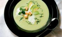 Суп из авокадо со сливками