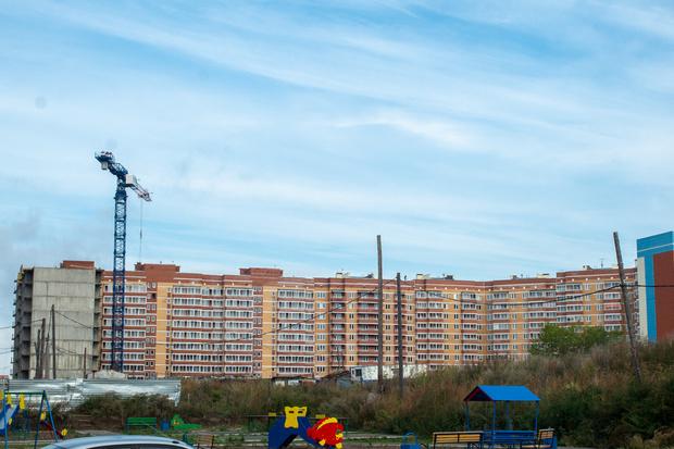 Стройка в Сосновоборске, в Красноярском крае