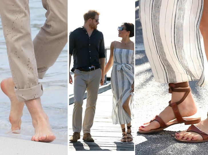 Фото №1 - Чем ноги Меган и Гарри заинтересовали экспертов