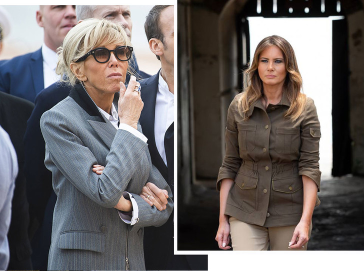 Фото №1 - Образы Брижит Макрон и Мелании Трамп в Африке: чей модный гардероб оказался удачнее