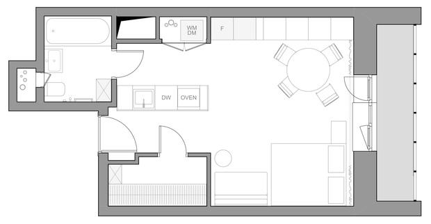 Фото №14 - Интерьер месяца: уютная квартира 35,7 м² в скандинавском стиле
