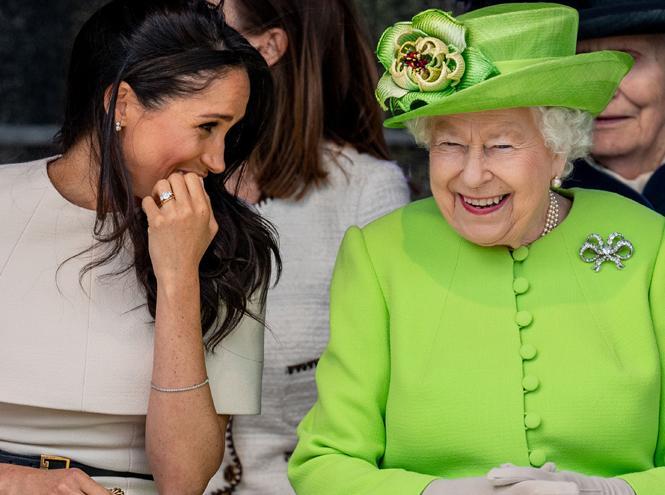Фото №18 - Как герцогиня Меган разбудила «внутреннего ребенка» королевы