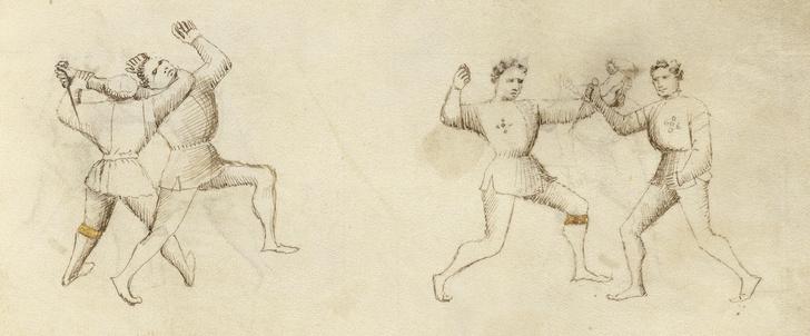 Фото №1 - Самоучитель рукопашной борьбы XV века